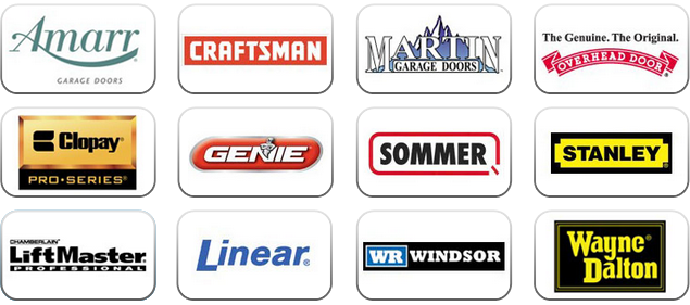 Garage Door Brands logo's